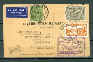 AUSTRALIA-NEW ZEALAND 1934 1st AIR MAIL FLIGHT COVER...LOW$$