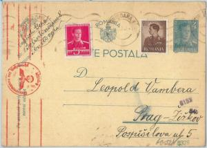 72529 - ROMANIA -  POSTAL STATIONERY CARD - Michel #  P101 with ADDED STAMPS