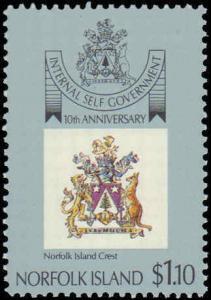 1989 Norfolk Islands #457-460, Complete Set(4), Never Hinged