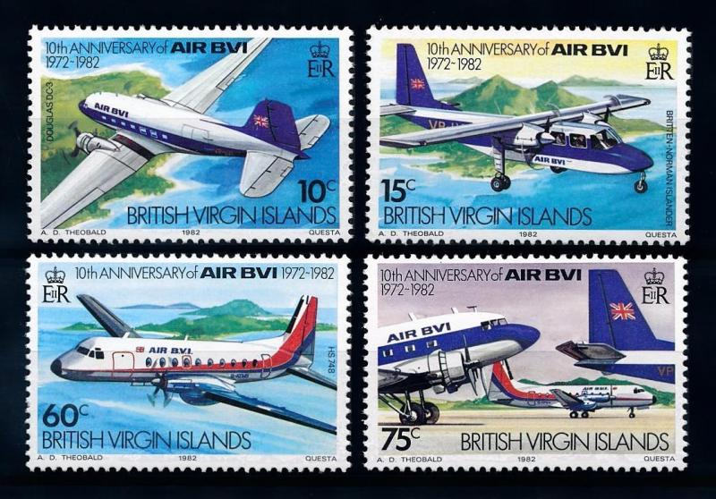 [71281] British Virgin Islands 1982 Aircrafts Airline BVI  MNH