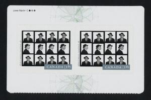Canada 2634a Top Booklet pane MNH Photography, Arnaud Maggs