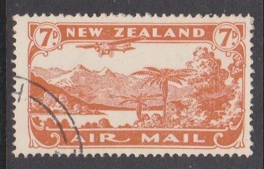 NEW ZEALAND 1931 7d airmail fine used - ACS cat NZ$30.......................M447