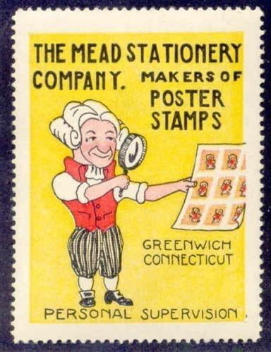 Mead Stationery Company Advertising Poster Stamp