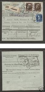 Bavaria Sc 102, 109 on 1918 International Packetcard