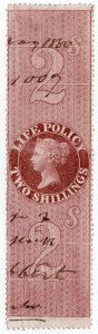 (I.B) QV Revenue : Life Policy 2/- (1872)