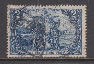 Germany Sc 76 used. 1902 2m gray blue Allegory definitive, F-VF