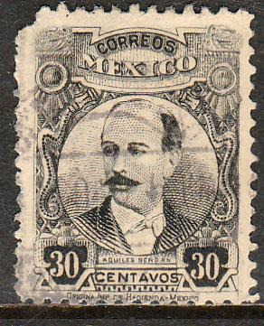 MEXICO 625, 30cents PERFORATED, USED.F-VF  (372)