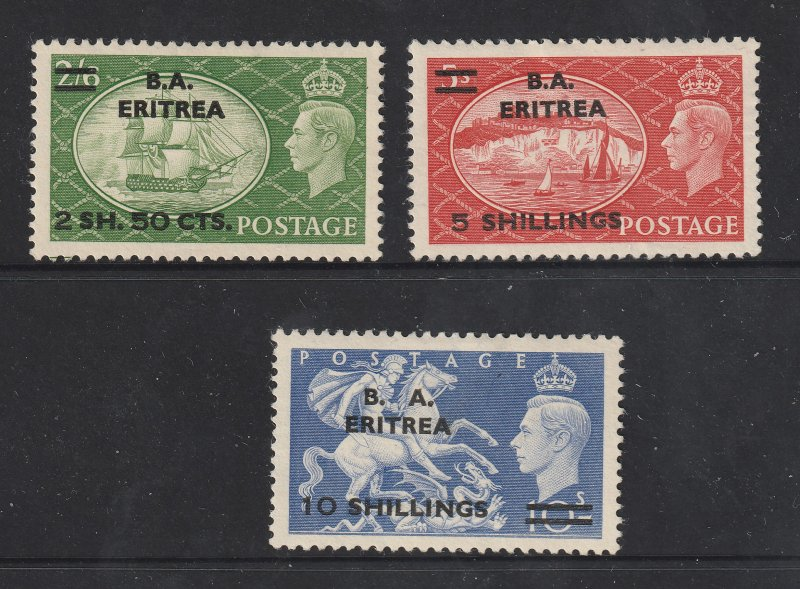 Great Britain BMA Eritria the 3 high values from the 1950 set but MNG