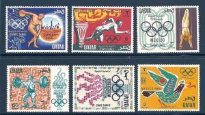Qatar 140-145 Mint VF NH