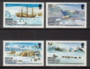BRITISH ANTARCTIC 1985 Graham Land Expedition; Scott 121-24, SG 139-42; MNH