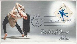 AO-1752, 1978, Dance, Modern, Add-on Cachet, FDC, SC 1752,