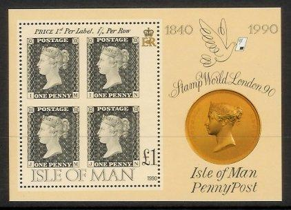 Isle of Man - 1990 150th Anniv of the Penny Black (MNH)