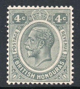 British Honduras 1922 KGV 4c grey wmk MSCA SG 130 mint