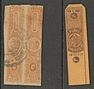 Mexico Cinderella Revenue Fiscal stamp 2-22 ---