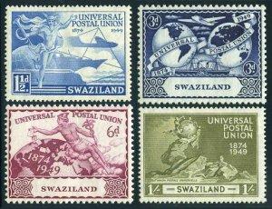 Swaziland 50-53,hinged.Michel 50-53. UPU-75,1949.Mercury,Plane,Ship,Train,
