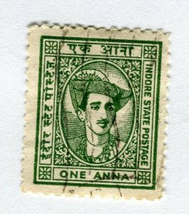INDIAN STATES; INDORE 1940-46 early local issue fine used. 1a. value