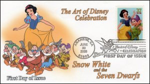 AO-3915–2, 2005, The Art of Disney Celebration, Pictorial Postmark, Snow White,