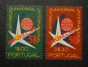 Portugal 830-31. 1958 Brussels Exhibition