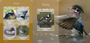 Z08 ST190312ab Sao Tome and Principe 2019 Ducks MNH ** Postfrisch