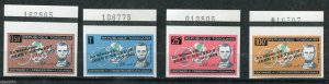 *x145 -TOGO Lincoln Set KENNEDY OVERPRINT Number Tabs IMPERFORATE MNH...(3-17)