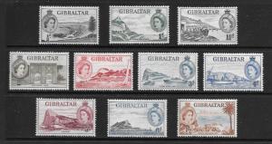 Gibraltar  Scott #132-141  Mint H Scott CV $23.60