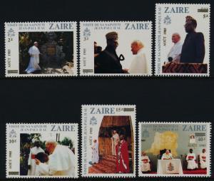 Zaire 1190-3 MNH Pope John Paul II
