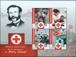 GABON - 2018 - Henri Dunant, Red Cross - Perf 4v Sheet - M N H