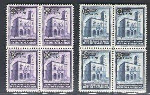 1934 San Marino Halls IN Quartina N°184/85 MNH / Cert. Giulio Bolaffi