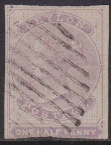 Ceylon 1858 SC 14 Used