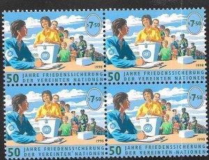 UN-Vienna #243 7.50s Peace Keeping Forces (MNH) blk of 4 CV $4.00
