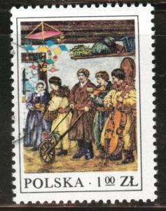 Poland Scott 2221 Used 1977  favor canceled Folk stamp