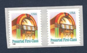 2912A Juke Box Pair Mint/nh (Free Shipping)