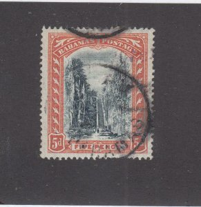 BAHAMAS # 34 VF-USED 5d QUEENS STAIRCASE CAT VALUE $66