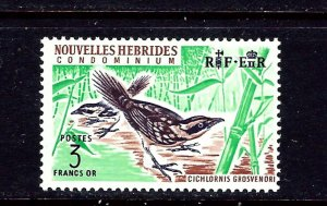 French New Hebrides 122 MNH 1965 Bird