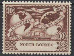 North Borneo  SG 353 SC# 241 MNH  UPU 1949