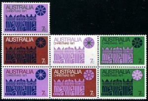 HERRICKSTAMP AUSTRALIA Sc.# 508 Christmas Stamps Mint NH Cat. Value $35.00