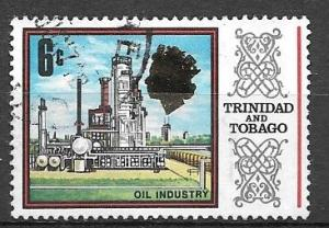 Trinidad and Tobago 1969 6 cents Oil Refinery, used, Scott #147