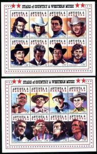 Antigua1491-1496, MNH, Country Music Oveprinted Barbuda Mail,1996 SCV-$96.s9038