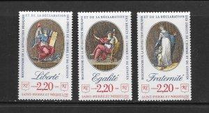 ST PIERRE & MIQUELON #514-16  FRENCH REVOLUTION  MNH