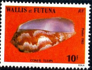 Cone Shell, Wallis & Futuna Islands stamp SC#303 Mint