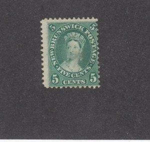 NEW BRUNSWICK (MK3933) # 8 F-MNG  5cts  QUEEN VICTORIA / GREEN /CENTS ISSUE