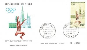 Niger, Worldwide First Day Cover, Olympics