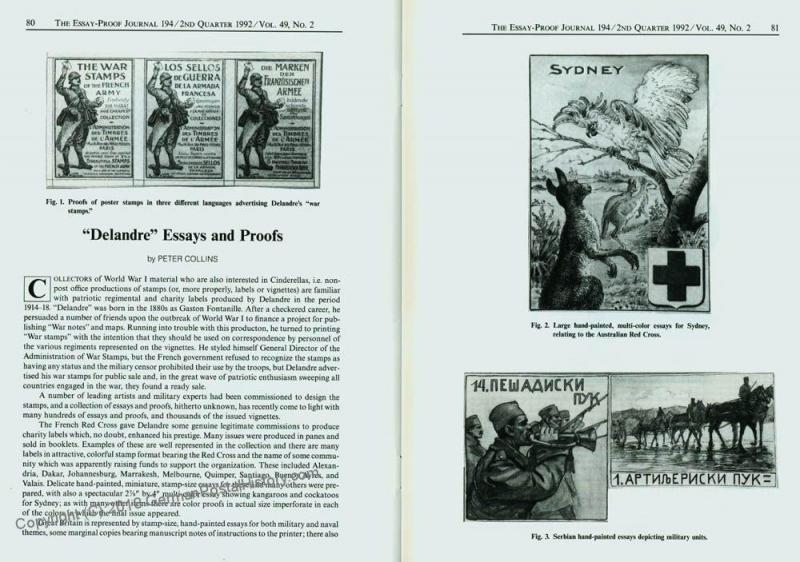 Essay-Proof Journal No194 Czechoslovakia Delandre 44696