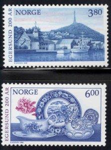 Norway Scott 1194-1195 MNH** Egersund tourism set 1998