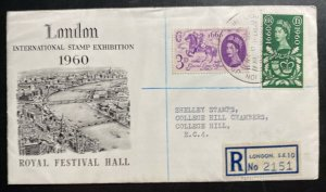 1960 London England First Day Cover FDC Stamp Exhibition Royal Festival