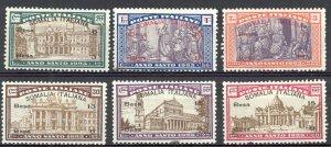 Somalia Sc# B5-B10 MH 1925 Holy Year Semi Postal Overprint