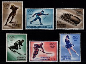 San Marino 1955 Winter Olympic Games, Cortina D'Ampezzo, Part Set [Unused]