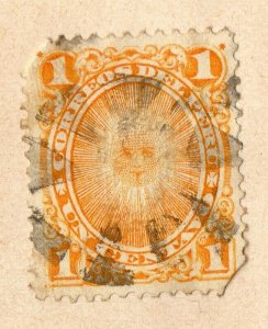Peru 1884-86 Early Issue Fine Used 1c. NW-11699