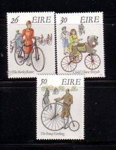 Ireland Sc 824-6 1991 Irish Bicycles stamp set mint NH
