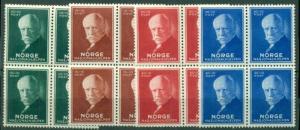 NORWAY #B15-18 Complete set, Blocks of 4, og, NH, VF, Scott $64.00